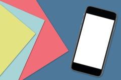 Smartphone με την κενή οθόνη στοκ εικόνα