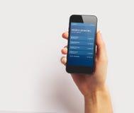 Smartphone στην άσπρη ανασκόπηση Στοκ εικόνες με δικαίωμα ελεύθερης χρήσης