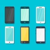 Smartphone στην μπλε έννοια υποβάθρου διανυσματική απεικόνιση