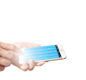 Smartphone στη διάθεση Στοκ φωτογραφία με δικαίωμα ελεύθερης χρήσης
