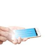 Smartphone в руке Стоковое фото RF