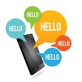 Smartphone здравствуйте! Стоковое Изображение RF