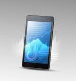 Smartphone и высокотехнологичная предпосылка Стоковые Изображения RF