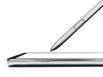 Smartphone и передвижная ручка стоковое фото rf