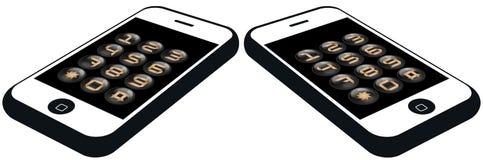 smartphone номера кнопок установленное Стоковые Изображения RF