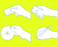 smartphone пер руки dics Стоковое Изображение RF