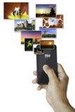 Smartphone посылая изображения стоковое фото rf