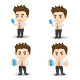 Smartphone пользы бизнесмена бесплатная иллюстрация