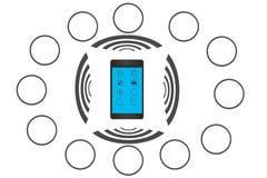 Smartphone - применения - чернь - SmartHome Стоковая Фотография RF