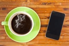 smartphone чашки Стоковое Фото