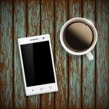 Smartphone шток померанца иллюстрации предпосылки яркий Стоковые Изображения