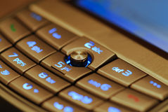 Smartphone. A keyboard of a pocket pc smartphone royalty free stock image