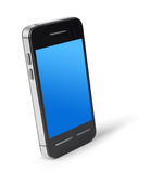 Smartphone. Modern touchscreen smartphone on white background royalty free illustration