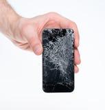 供以人员暂挂被中断的smartphone 库存图片