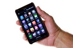 smartphone 4g Arkivbild