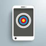 Цель Smartphone Стоковое фото RF