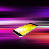 Smartphone on abstract  background,cell phone illustration Stock Images