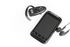 Smartphone with accessories Stock Image