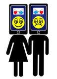 Smartphone Addicts Royalty Free Stock Image