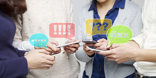 Smartphone addicts Royalty Free Stock Photos