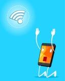 Smartphone adore signal Stock Photo