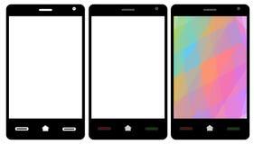Smartphone ajustou-se Imagem de Stock Royalty Free