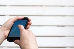 Smartphone alta tecnologia nuvoloso Fotografia Stock Libera da Diritti