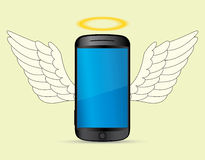 Smartphone angel Stock Images