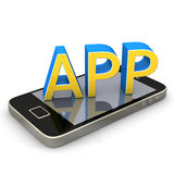 Smartphone App Royalty Free Stock Images
