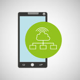 Smartphone app development cloud connection Royalty Free Stock Photos