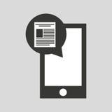 Smartphone app file social media icon. Vector illustration eps 10 Royalty Free Stock Photo
