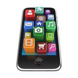 Smartphone App icons - isolated Royalty Free Stock Photography