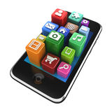 Smartphone App icons - isolated Stock Image