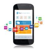 Smartphone App internet Royaltyfria Bilder