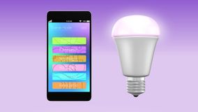 Smartphone app for LED lighting control Stock Images