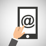 Smartphone app mail social media icon Stock Image