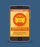 smartphone with app service taxi Royalty Free Stock Photo