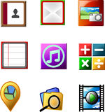 Smartphone application icon Stock Photography