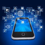 Smartphone and application icons Stock Image