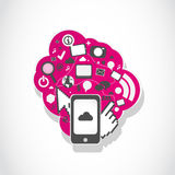 Smartphone application icons concept Royalty Free Stock Photography