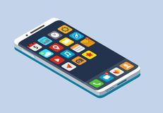 Smartphone with application icons. Stock Photography