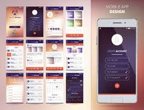 Smartphone Application Templates Stock Photography
