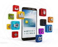 Smartphone applikationer Royaltyfri Foto