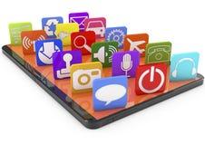 Smartphone apps Στοκ εικόνα με δικαίωμα ελεύθερης χρήσης