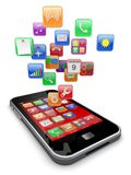 Smartphone apps icons Royalty Free Stock Photography