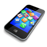 Smartphone apps icons Stock Photography