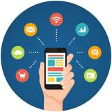 Smartphone apps infographics Stock Images