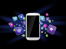 Smartphone and apps Stock Images