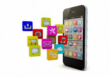 Smartphone apps Royalty Free Stock Photo