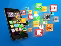 Smartphone apps Royalty Free Stock Image